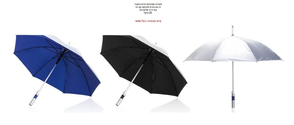 הדפסה על מטריות לקידום מכירות